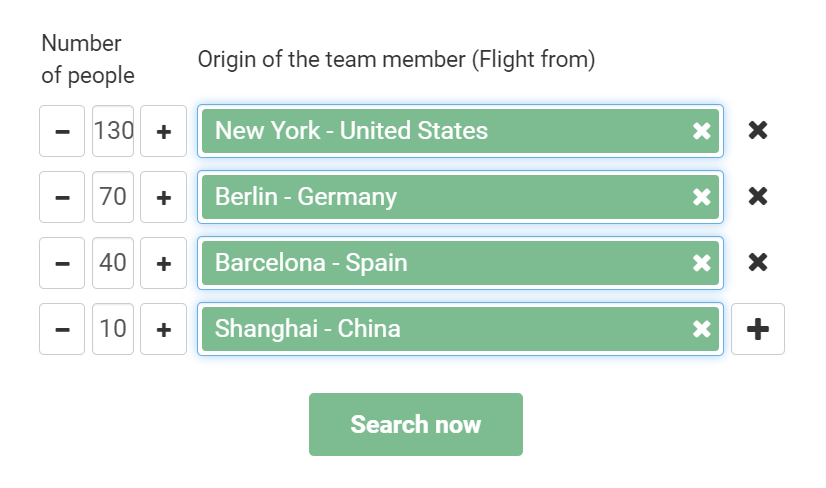 Location Finder - search flights