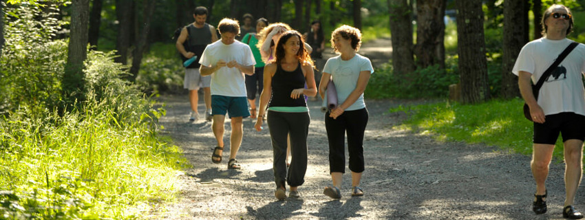 Team building activities in the Catskill Mountains, near New York, USA