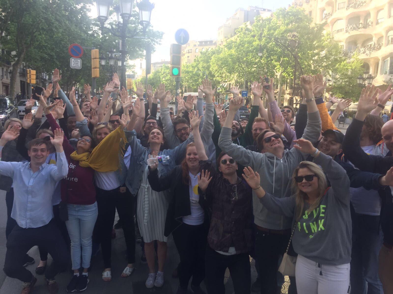 Peakon startup retreat with team-building activities in Barcelona in May