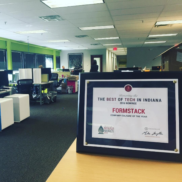 Formstack company culture of the year award