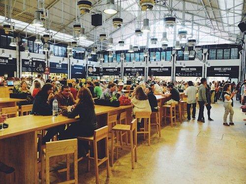 Lisbon - Lunch at Mercado Da Ribera