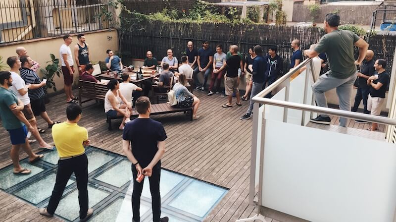 Mynd company retreat in Barcelona