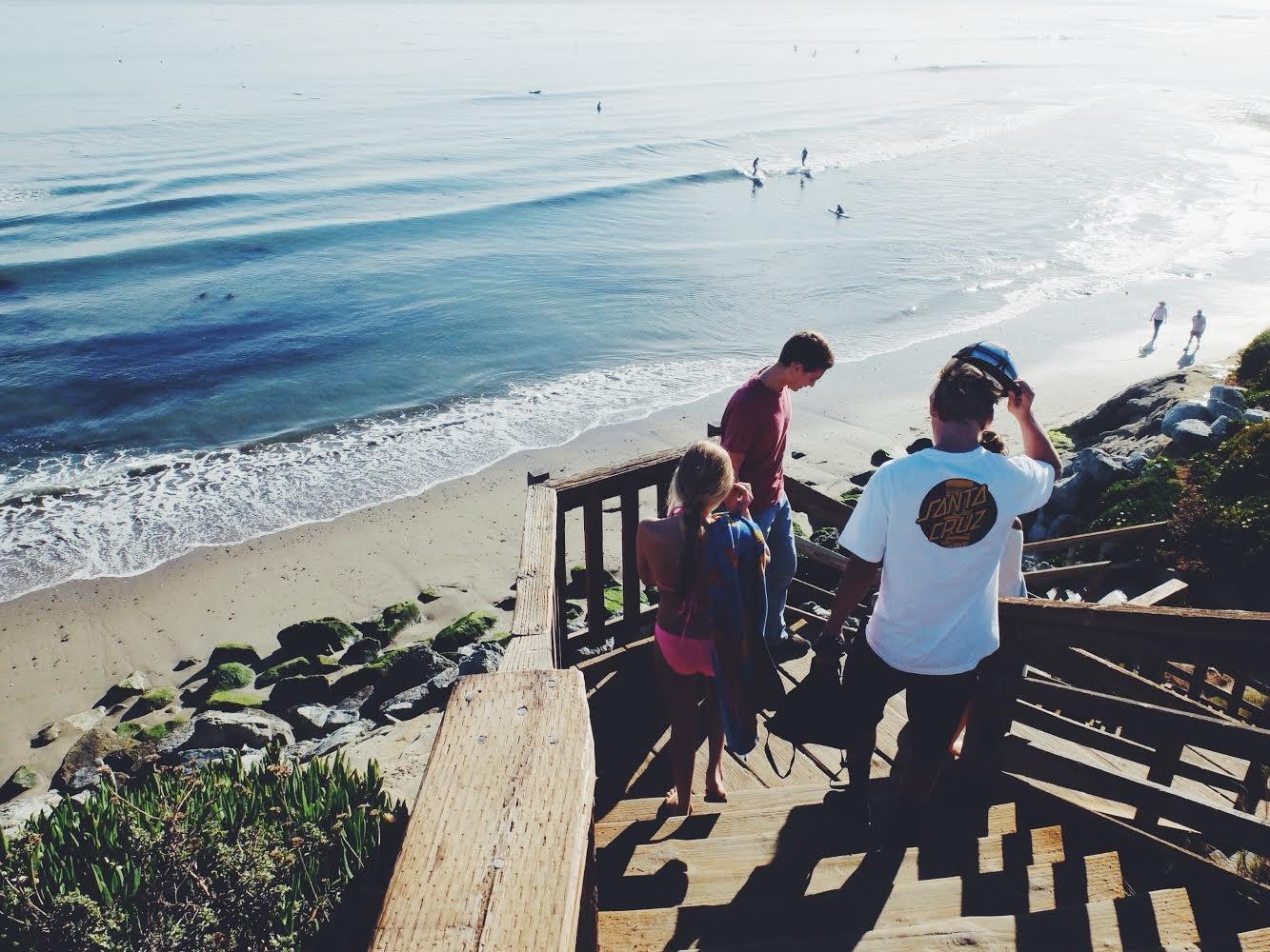 Santa Cruz - Surfers on a Beach