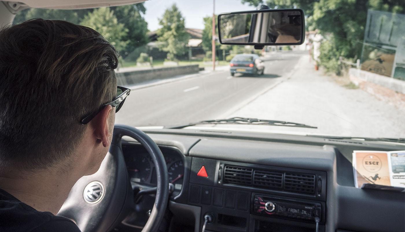 Stephan and Simon on a road trip