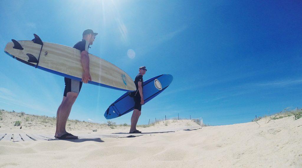 Stephan and Simon surfing