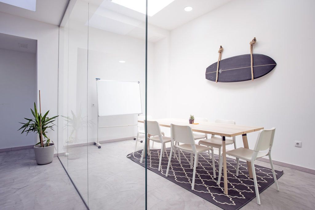 Meeting room in private coworking office in Lisbon