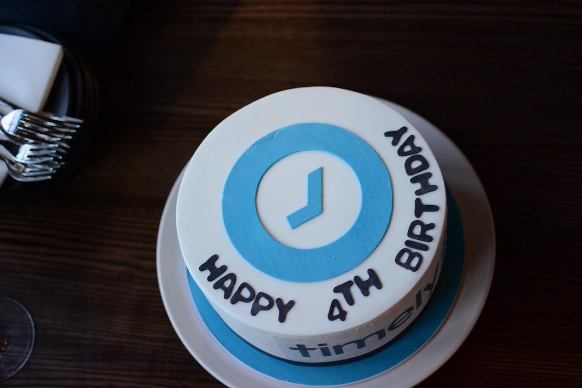 Timely 4th Birthday Cake